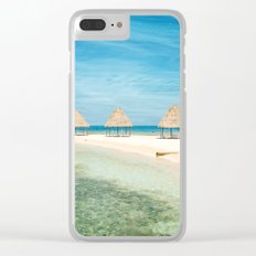 Waves and Clouds Clear iPhone Case
