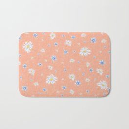 Beautiful Spring flowers on Coral Bath Mat