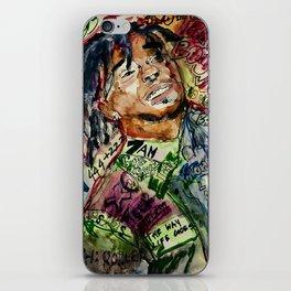 colorful hiphop,poster,lil,rap,artist,music,lyrics,colourful,poster,cool,dope,print,uzi iPhone Skin