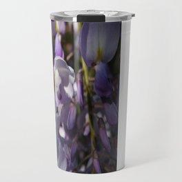 Close Up Of Lavender Wisteria Blossom Travel Mug
