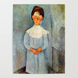 "Amedeo Modigliani ""Little girl in blue"" Poster"