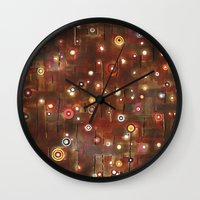 constellation Wall Clocks featuring constellation by davina pallone