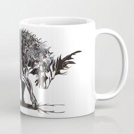 Ramming 1. Black and white background. Coffee Mug