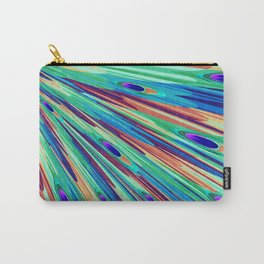 Peacock feather abstraction Carry-All Pouch