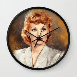Lucille Ball, Hollywood Legend Wall Clock