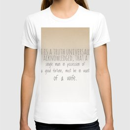 In want of a wife T-shirt