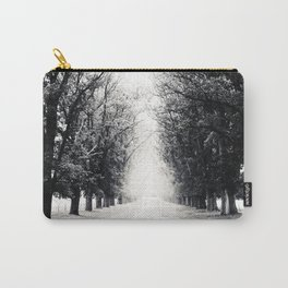 Tree-Lined Tranquil Road On A Peaceful Winter's Afternoon Carry-All Pouch