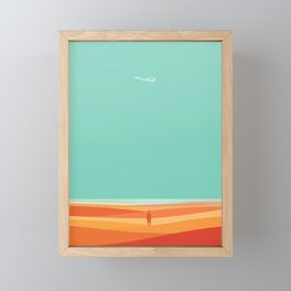Where the sea meets the sky Framed Mini Art Print