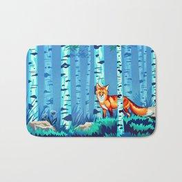 Fox and Birches Bath Mat