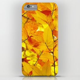 Indian Summer - Yellow Autumn Fall Leaves iPhone Case