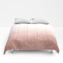 Rose Gold Ombre Comforters