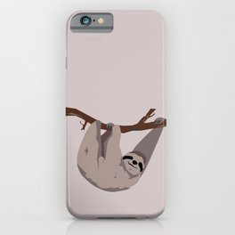 Sloth just hangin' iPhone Case