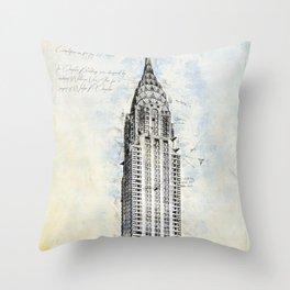 Crysler Building, New York, USA Throw Pillow