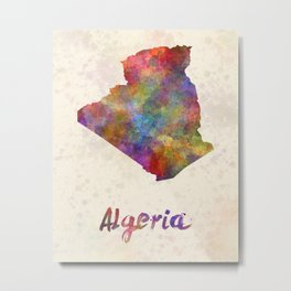Algeria in watercolor Metal Print