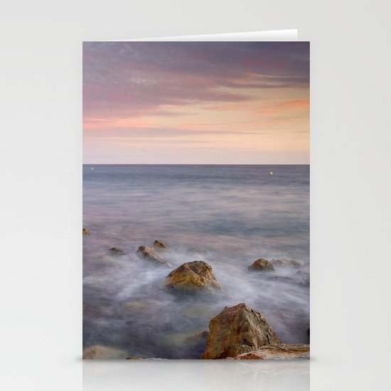 Pink seasunset Stationery Cards