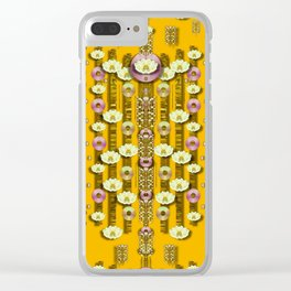 Rain showers in the rain forest of bloom and decorative liana Clear iPhone Case
