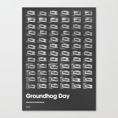 A MOVIE POSTER A DAY: GROUNDHOG DAY. Canvas Print