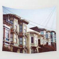 san francisco Wall Tapestries featuring San Francisco by crashley96