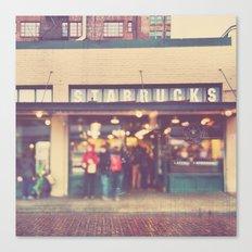 A Star is Born. Seattle Starbucks photograph Canvas Print