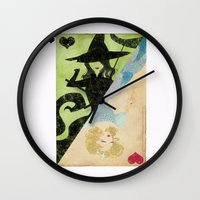 wicked Wall Clocks featuring Wicked by Serena Rocca