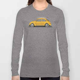 Legendary Classic Surf Bug Vintage Retro Cool German Car Wall Art and T-Shirts Long Sleeve T-shirt