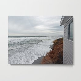 Land and Sea and the line Between Metal Print