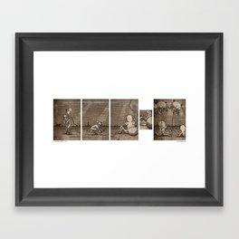Diving Hosed Framed Art Print