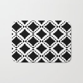 Modern Black Bath Mat