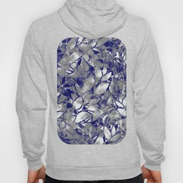 Grunge Art Silver Floral Abstract G169 Hoody