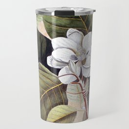 Vintage White Magnolia  Travel Mug