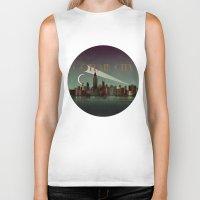 gotham Biker Tanks featuring Gotham City by WyattDesign