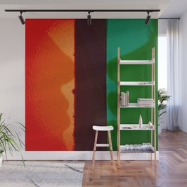 Behind Stained Glass Windows Wall Mural