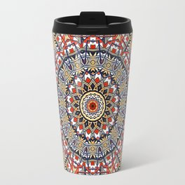 Pottery Tile Kaleidoscope Travel Mug