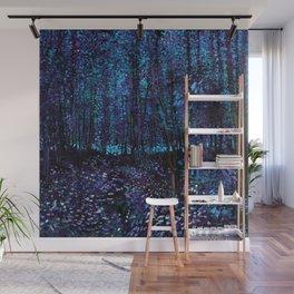 Van Gogh Trees & Underwood Indigo Turquoise Wall Mural