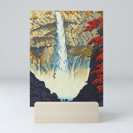 Waterfall At Nikko Kasamatsu Shiro Japanese Woodblock Painting Asian Beautiful Ink Cultural Historic Mini Art Print