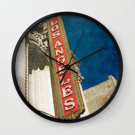 1931 Los Angeles Theatre Vintage Sign Wall Clock