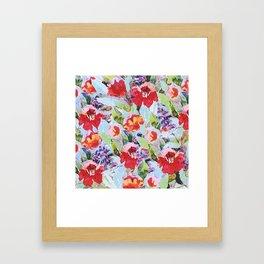 campagne fleurie Framed Art Print