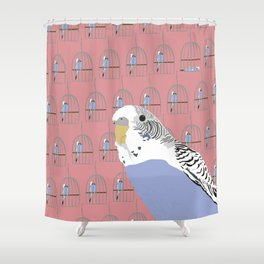 The Budgie Gallery Giftshop Shower Curtain