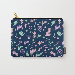 Zola - bright happy fun pattern navy blue pastel shapes charlotte winter Carry-All Pouch