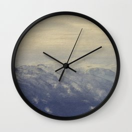 Yet another lake & mountain landscape   4 Wall Clock