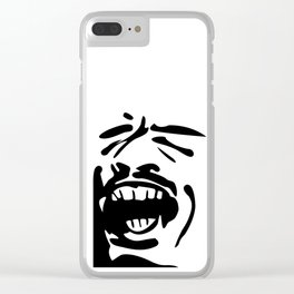 Face Scream Clear iPhone Case