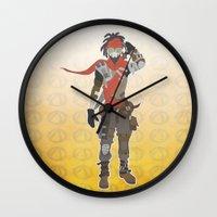 borderlands Wall Clocks featuring Borderlands 2 - Mordecai by LightningJinx
