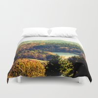 trout Duvet Covers featuring Trout Lake by Lindsay Isenhour