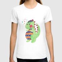 trex T-shirts featuring Green Dino by haidishabrina