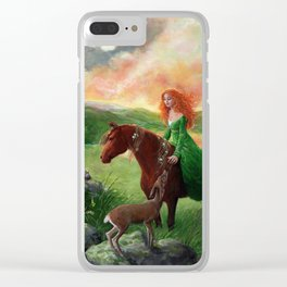 Aine, Queen of the Faeries Clear iPhone Case