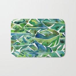 Split Leaf Philodendron – Green Bath Mat
