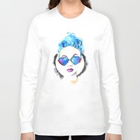 hearts Long Sleeve T-shirts featuring Hearts by Mistake Ann