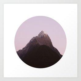 Mountain Series - Mitre Peak Circle Art Print