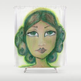 Envy is a virtue Shower Curtain