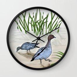 Australian Wood Duck Wall Clock